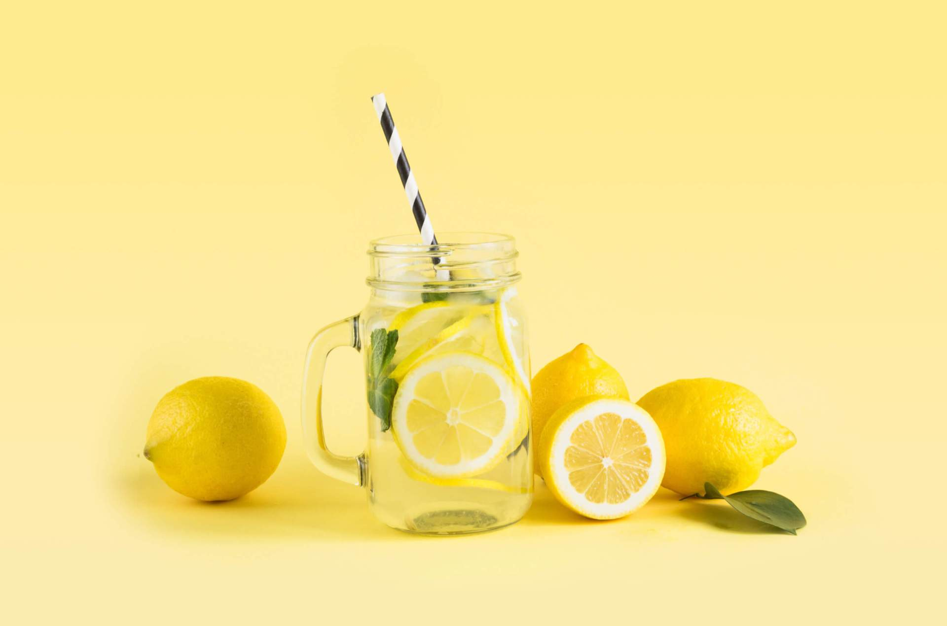 A glass of lemonade from a lemonade stand