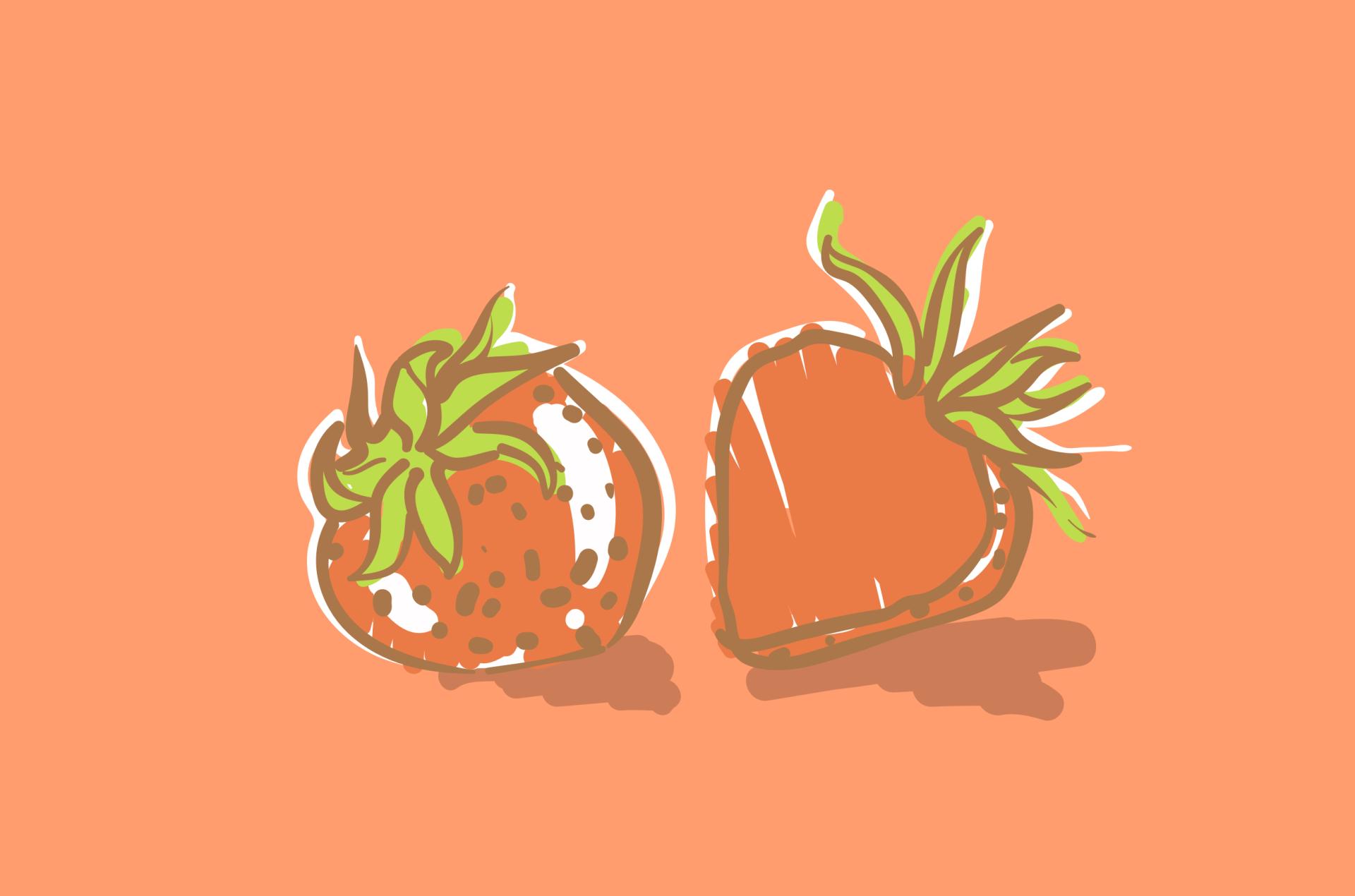 Strawberries graphic