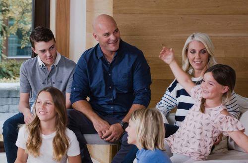 The Baeumler family gathered together