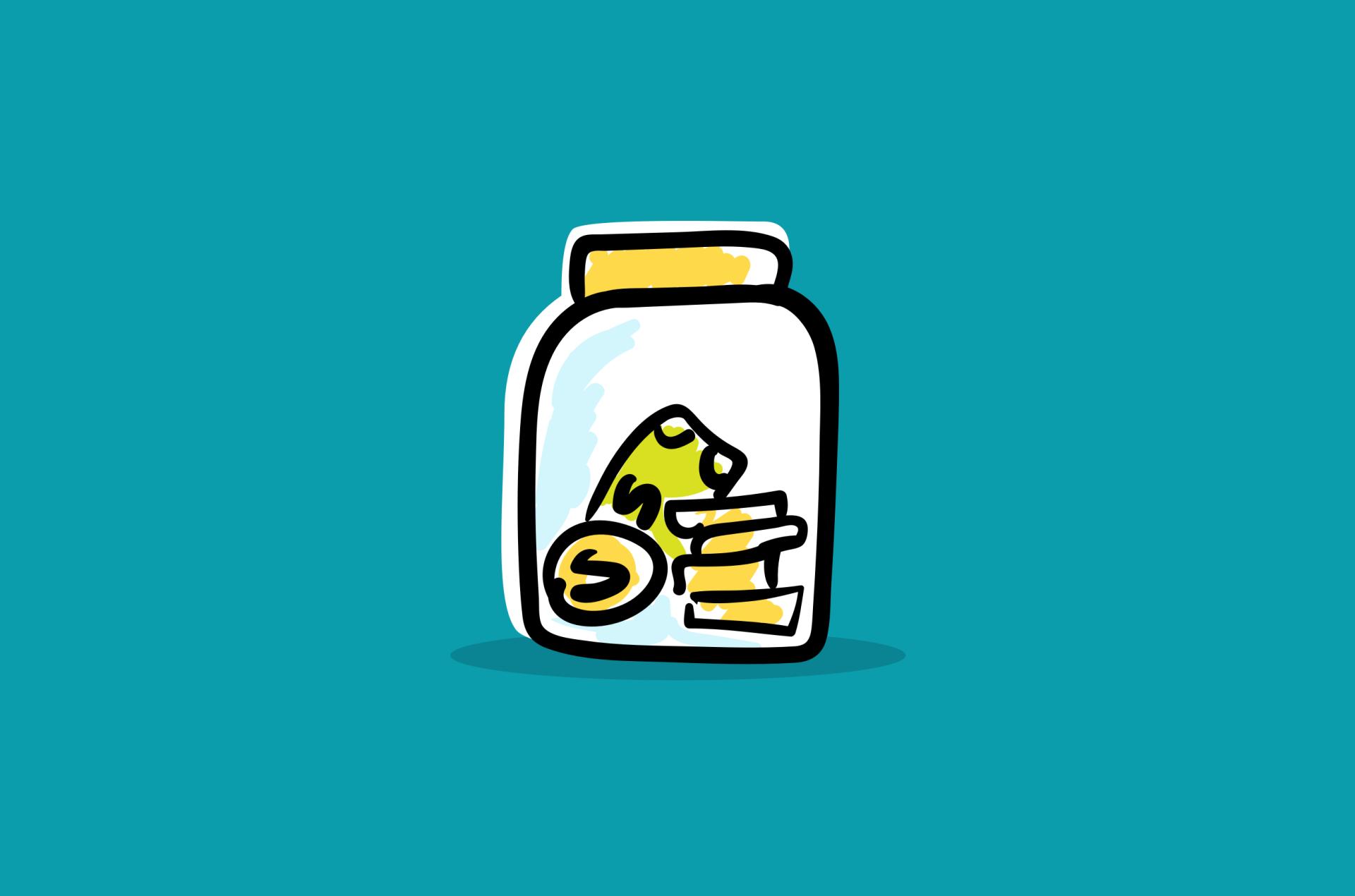 Money jar graphic