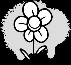 Flower icon graphic