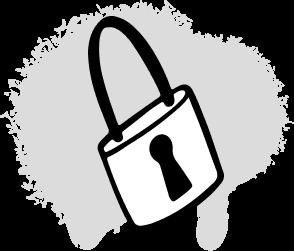Lock icon graphic