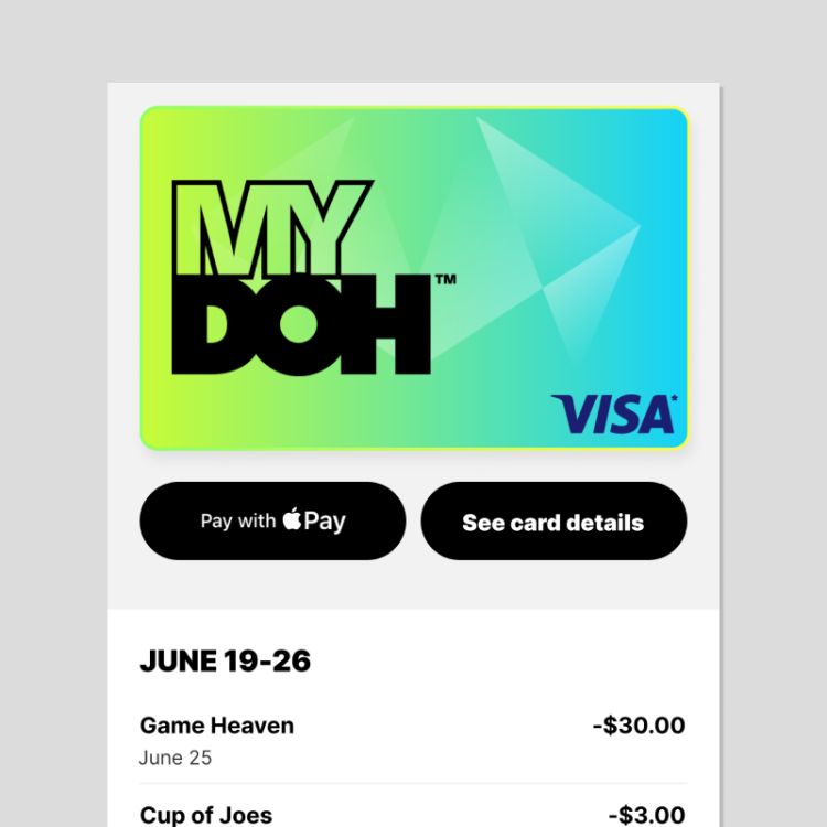 Paying with Apple Pay in the Mydoh app